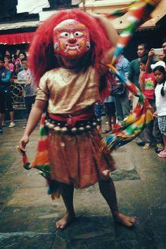 Lakhe Dance - a traditional form of Newari dance performed for major Newari festivals in Nepal