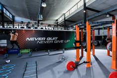 This studio is fully equipped with a training rig, functional training equipment, and speed drill accessories.