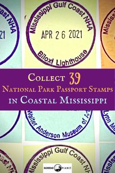Who knew you could collect 39 National Park Passport stamps within the Mississippi Gulf Coast National Heritage Area? No wonder they call it the Secret Coast! via @backroadplanet National Park Passport, National Parks, Mississippi, Louisiana, Biloxi Lighthouse, Travel Usa, Travel Tips, Travel Destinations, Moss Point