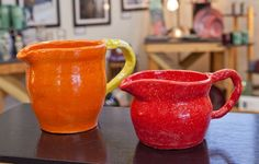 Pitcher's Outrage Orange and Hot Tamale  $25 and $20
