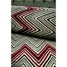 I love this color combination and zig zag pattern.