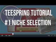 [Teespring Tutorials] 1-Niche Selection • You will get access to an under used resource which will give you the ability to find thousands of niches by just t...