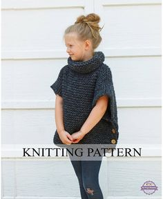 KNITTING PATTERN The Sophie Sweater Toddler Child Adult