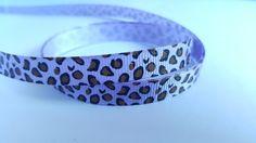 3m Ribbon - Printed Grosgrain - 9mm - Leopard Print - Lilac