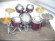 """Wire Drum Set 笹暮了@台所ライダー on Twitter: """"ドラムセット #針金細工 #ワイヤークラフト #ワイヤーアート #ドラム…"""