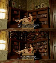 """She read about people she could never be... on adventures she could never have."" - Pushing Daisies"