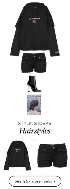 """""""Untitled #5641"""" by twerkinonmaz on Polyvore featuring Vetements, Venus and Yves Saint Laurent"""