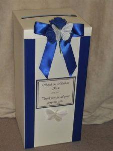 Royal Blue & Ivory card box