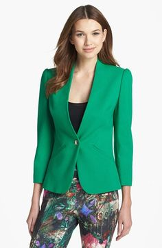 Ted Baker London 'Adale' Wide Front Jacket available at #Nordstrom -- don't think it's big enough, but I'd love a green jacket.