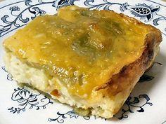 CHILE RELLENO CASSEROLE - Linda's Low Carb Menus & Recipes.  Keto Lunch, Dinner Recipe.