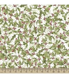 Susan Winget Holiday Insporations Fabric Holly Scroll Two Tone