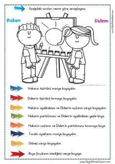 Turkish Lessons, Learn Turkish, Turkish Language, Following Directions, Learning Arabic, Pre School, Kids And Parenting, Autism, Psychology