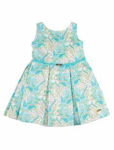 Turquoise paisley dress from Pili Carrera