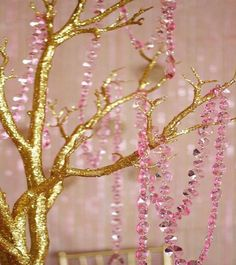 Pink Hanging Crystals by BlingBridalEvents on Etsy