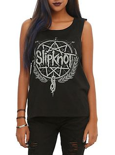 Slipknot Wreath Logo Girls Muscle Top, , hi-res