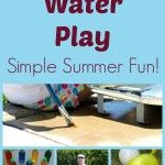 Low-prep water play ideas for kids. Great summer water play activities for toddlers and preschoolers for summer playtime. Water Play Activities, Summer Activities For Kids, Summer Kids, Games For Kids, Sensory Activities, Sensory Play, Outdoor Activities, Water Games, Outdoor Games