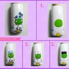 No hay ninguna descripción de la foto disponible. Pop Art Nails, Nail Polish Art, Acrylic Nail Designs, Nail Art Designs, Manicure And Pedicure, Gel Nails, Cartoon Nail Designs, Animal Nail Art, Spring Nail Art