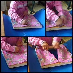 Recycled Montessori's frame for fastening