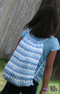 Beach Bag. Free knit loom pattern!!
