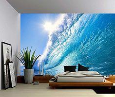 Ocean Wave   Large Wall Mural, Self Adhesive Vinyl Wallpaper, Peel U0026 Stick  Fabric Wall Decal