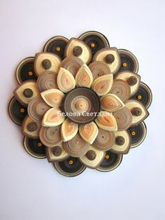 Hamster Challenge: Decorative flower - quilling master-class