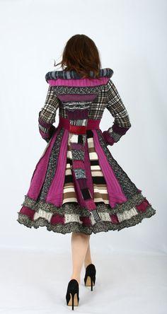 Recycled Sweater Coat  Plus Size Dream Coat by EnlightenedPlatypus, $122.00