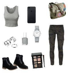 """lazy outfit"" by insomnia96 on Polyvore featuring Hudson, LE3NO, Timberland, Marvel, Longines and Bobbi Brown Cosmetics"