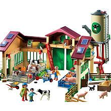 Pinning to remember for my son's bday!  He loves playing farm. :)  Playmobil Barn with Silo