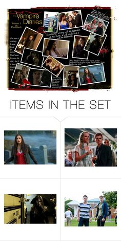 """""""The Vampire Diaries: Season 1 Flashback"""" by jess-nichole ❤ liked on Polyvore featuring art"""