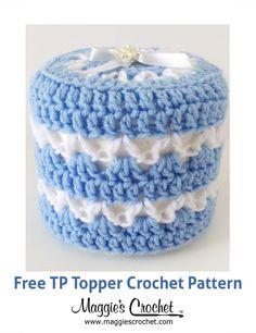TP Topper Free Crochet Pattern from Maggie's Crochet.