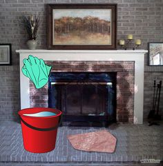 How to Clean Soot from Brick. A fireplace can be a cozy addition to any home, but one of the inevitable byproducts is soot on the surrounding bricks. Soot can leave lasting stains on the material it comes in contact with, so it's important. Brick Fireplace, Scrubbing Bubbles, Fireplace Cleaner, Cleaning Brick Fireplaces, Clean Fireplace, Diy Cleaning Products, Red Brick Fireplaces, How To Clean Brick, Diy Fireplace
