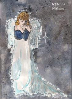 """This is an open edition ACEO print based on my original watercolor painting called """"Take me to your heart"""" Showing a beautiful winter angel. Printed on 135 g/m thick printing paper with slight surface resembling watercolor paper. Watercolor Artists, Watercolor Paper, Watercolor Paintings, Painting Art, Fantasy Angel, Fantasy Art, Trading Card Sleeves, Grey Art, White Art"""