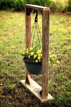 Pallet Hanging Flower Basket                                                                                                                                                                                 More