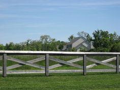 Custom Wood Farm Fence Around Park Wood Fence