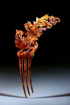 Tortoise comb, phoenix design (2)
