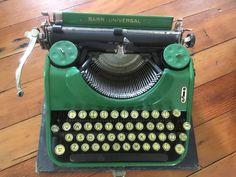Vintage Bar-Morse Typewriter - With Case - Travel Bar Morse
