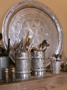 Silver Moroccan tea tray  tea-in-tangiers: Akasha Mountain Retreat