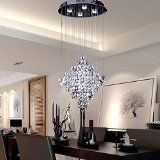 http://ift.tt/1MK8i9G OOFAY LIGHT LED 43W Contemporary fashion K9 Crystal Modern Chandelier Rain Drop Lighting Crystal Ball Fixture Pendant