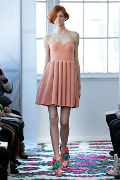 Delpozo Fall 2013 - That dress....HATE the shoes, but THAT dress.