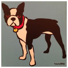 Boston Terrier / Artist: Marc Tetro #bostonterrier