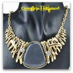 COWGIRL STYLE NECKLACE Crystal Smoke Gray Stone Bib Necklace COWGIRLS UNTAMED ~ Fashion For Your Cowgirl Gypsy Rebel Soul  www.cowgirlsuntamed.com