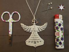 Macrame tutorial angel ornament