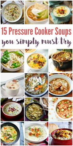 15 Pressure Cooker Soup Recipes - From pho to French onion soup, here are 15 pressure cooker soup recipes you simply must try! Your family and friends will thank you. Promise. | isthisreallymylife.com
