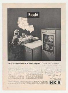 NCR 390 Computer Ad (1963).