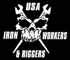 Iron workers | iron workers and riggers skull decal