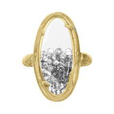 Oval Branch Shaker Ring