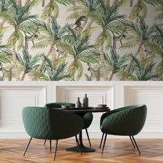 Crazy Palms is part of the collection known as Tropical Leaf designed by Franco Moz. The collection is inspired by tropical plants. Textured Wallpaper, Custom Wallpaper, Wallpaper, Decor Interior Design, Vinyl Wallpaper, Print Wallpaper, Delft, Rough Linen, Nature Inspiration