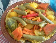 """Couscous marocain aux """"sept legumes"""""""
