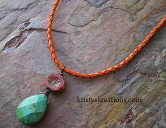 Orange Blossom necklace available @ http://www.kristyskreations.com/catalog/i1094.html