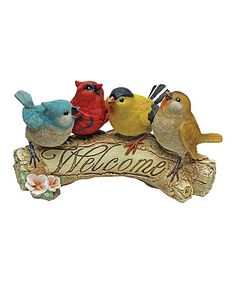 Loving this Birdy Welcome Figurine on #zulily! #zulilyfinds